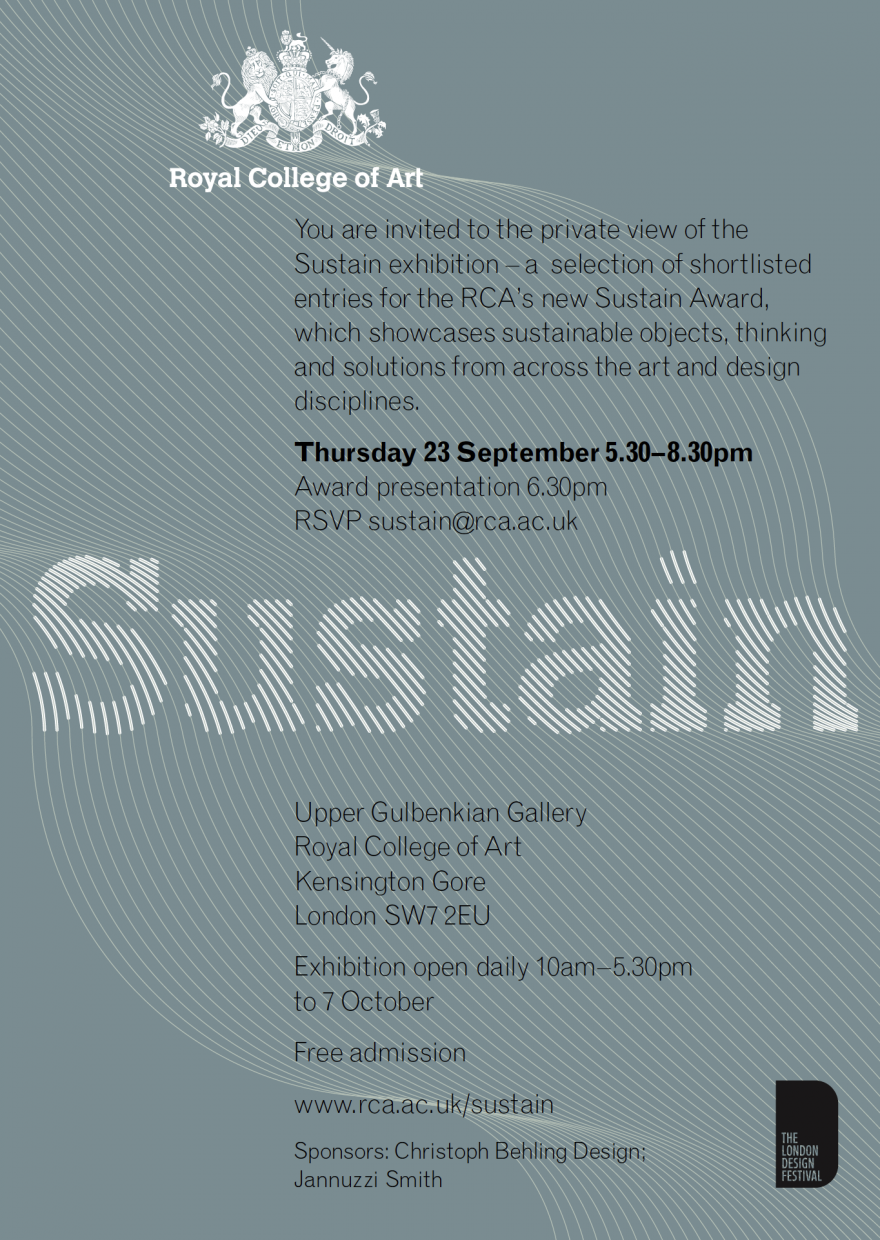 Royal College of Art – Sustain